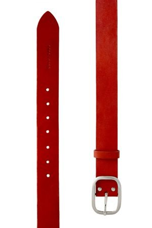 LEATHER BELT WITH METAL BUCKLE – CINTIA