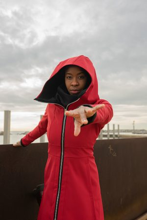 RED WATERPROOF COAT – ORANYA